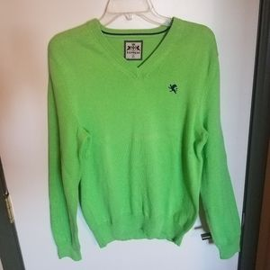 Express Lime Green V-neck Sweater